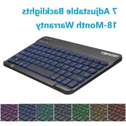 Backlit Illuminated Wireless Bluetooth Keyboard Charge IOS A