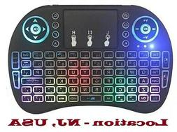 Backlit Mini Keyboard with TouchPad Mouse, Wireless 2.4Ghz -