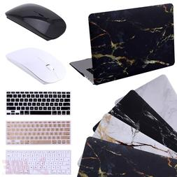 "HDE Black and Gold Marble MacBook Air 13"" Case Hard Shell Co"