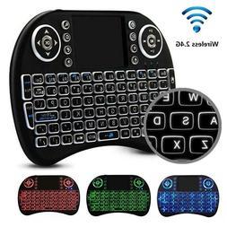 Black i8 2.4Ghz Mini Wireless Keyboard Remote Controls Touch