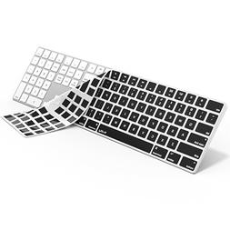 Kuzy BLACK Keyboard Cover for Apple Magic Keyboard with Nume