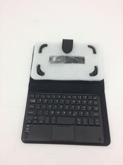 "Black Leather Case and USB Keyboard for 6.5"" Tablet"
