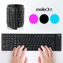 Bluetooth 3.0 Silicone Keyboard Wireless Flexible Waterproof