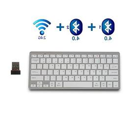 Bluetooth Keyboard,bluebyte Multi device Wireless Keyboard,F