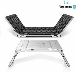 bluetooth keyboard bluetooth 5 1 foldable wireless
