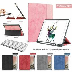 Bluetooth Keyboard+Smart Case TPU Cover with Pencil Holder i