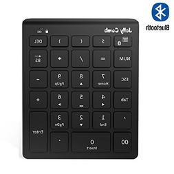 Bluetooth Number Pad, Jelly Comb N019 Ultra Slim Wireless Bl
