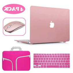 Carry Bag+Hard Case+Keyboard Cover+Wireless Mouse For Mac Ma