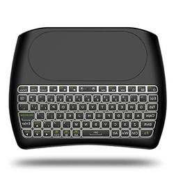 D8 Backlit Mini Wireless Keyboard with Large Touchpad Mouse,