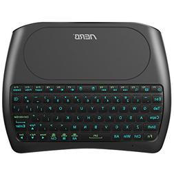 Aerb Backlit Mini Wireless Keyboard with Large Touchpad Mou