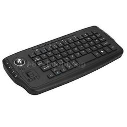 E30 2.4GHz Wireless Keyboard with Trackball Mouse Scroll Whe