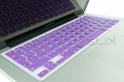 Kuzy EU/UK PURPLE Keyboard Cover Silicone Skin for MacBook P