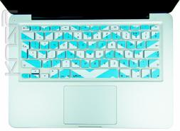 Kuzy EU/UK TEAL Chevron Zig-Zag Keyboard Cover for MacBook P