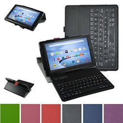 Fire HD 10 Bluetooth Keyboard Case,Mama Mouth Coustom Design