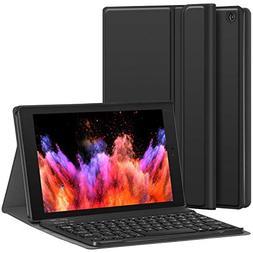 Fire HD 10 Case with Keyboard - CHESONA Slim PU Leather Foli