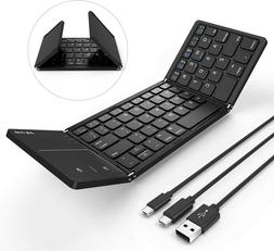 Foldable Bluetooth Keyboard for Mac OS/iOS - Jelly Comb Wire