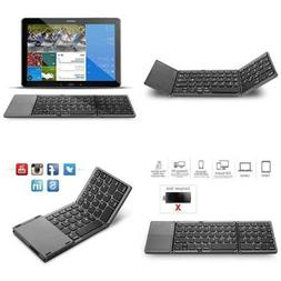 Folding Bluetooth Keyboard, Jelly Comb Rechargeable Portable
