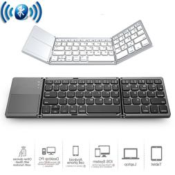 Folding Wireless Bluetooth Keyboard Touch Pad Mouse for iOS