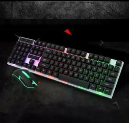 Gaming Keyboard And Mouse Wired Keyboard Backlight 1000DPI W