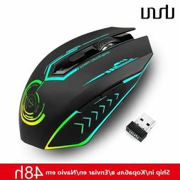 Gaming Mouse 2.4G Rechargeable Wireless 5 Buttons Changeable