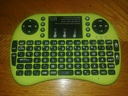 Green Rii i8+ Wireless Mini Keyboard Mouse backlite Touchpad