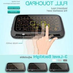 H18+ 2.4GHz Backlit Wireless Keyboard Full Touchpad Remote f
