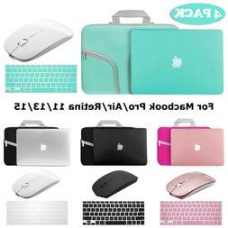 Hard Case+Keyboard Skin+Wireless Mice+Sleeve Bag Macbook Pro