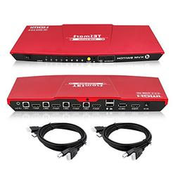 TESmart HDMI 4K Ultra HD 4x1 HDMI KVM Switch 3840x2160@60Hz