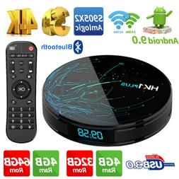 HK1 Plus Smart TV Box Amlogic S905X2 Quad Core 4G+32G 64G Wi