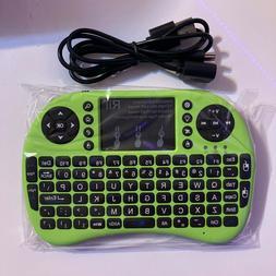 Rii i8+ 2.4GHz MINI WIRELESS KEYBOARD MOUSE COMBO GREEN PC T