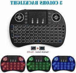 i8 2.4Ghz Mini Wireless Keyboard Remote Control Touchpad Bla
