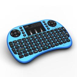 Rii i8+ Blue Mini Wireless Keyboard BACKLIGHT for PS4 Kodi S