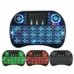 i8 Mini 2.4G Wireless Keyboard Touchpad Color Backlit Air Mo