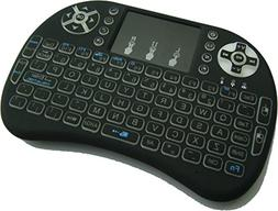 Quanmin I8 2.4Ghz Wireless Backlit Touchpad Mini Keyboard Wi