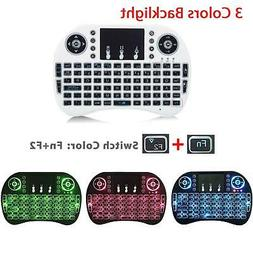 i8 Wireless Mini Keyboard Mouse Touchpad w/ Backlight For Sm