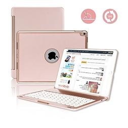iPad Pro 10.5 Keyboard Case, G-TING 7 Colors Adjustment Back