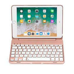 Earto iPad Mini 4 Keyboard Case 7 Color Backlit Wireless/BT