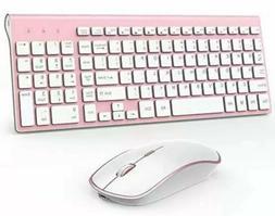 J JOYACCESS Wireless Keyboard and Mouse Combo-2.4G Portable,