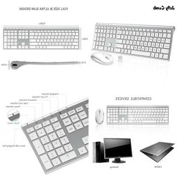 Jelly Comb 2.4Ghz Ultra Slim Full  Rechargeable Wireless Key