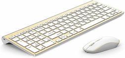 JOYACCESS Aluminum Wireless Keyboard and Mouse Combo,Slim Wi