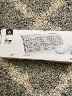 JOYACCESS Compact 2.4G Wireless Keyboard and Ergonomic Mouse