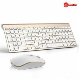 JOYACCESS Wireless Keyboard and Mouse Combo,Aluminum Slim Wi