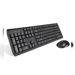 Eagletec K104 Wireless Keyboard and Mouse Combo Thin Quiet 1