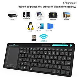 Rii K18 Wireless Keyboard with Build-in Large Size Touchpad