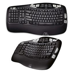 Logitech K350 Wireless Wave Keyboard with Unifying Wireless