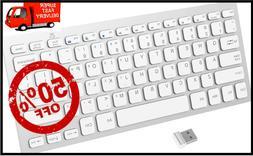 Wireless Keyboard 2.4G Ultra-Slim for Windows with USB Recei