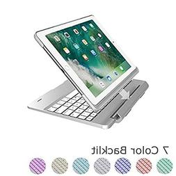 Keyboard Cover for iPad air 2, Vacio 7 Color Backlit Detacha