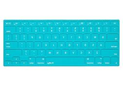 Kuzy Solid Hot TEAL Blue Keyboard Cover Silicone Skin for Ma