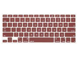 Kuzy - Chocolate Brown Keyboard Cover Silicone Skin for MacB