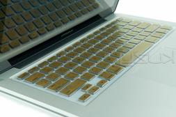 Kuzy METALLIC GOLD Keyboard Cover Silicone Skin for MacBook